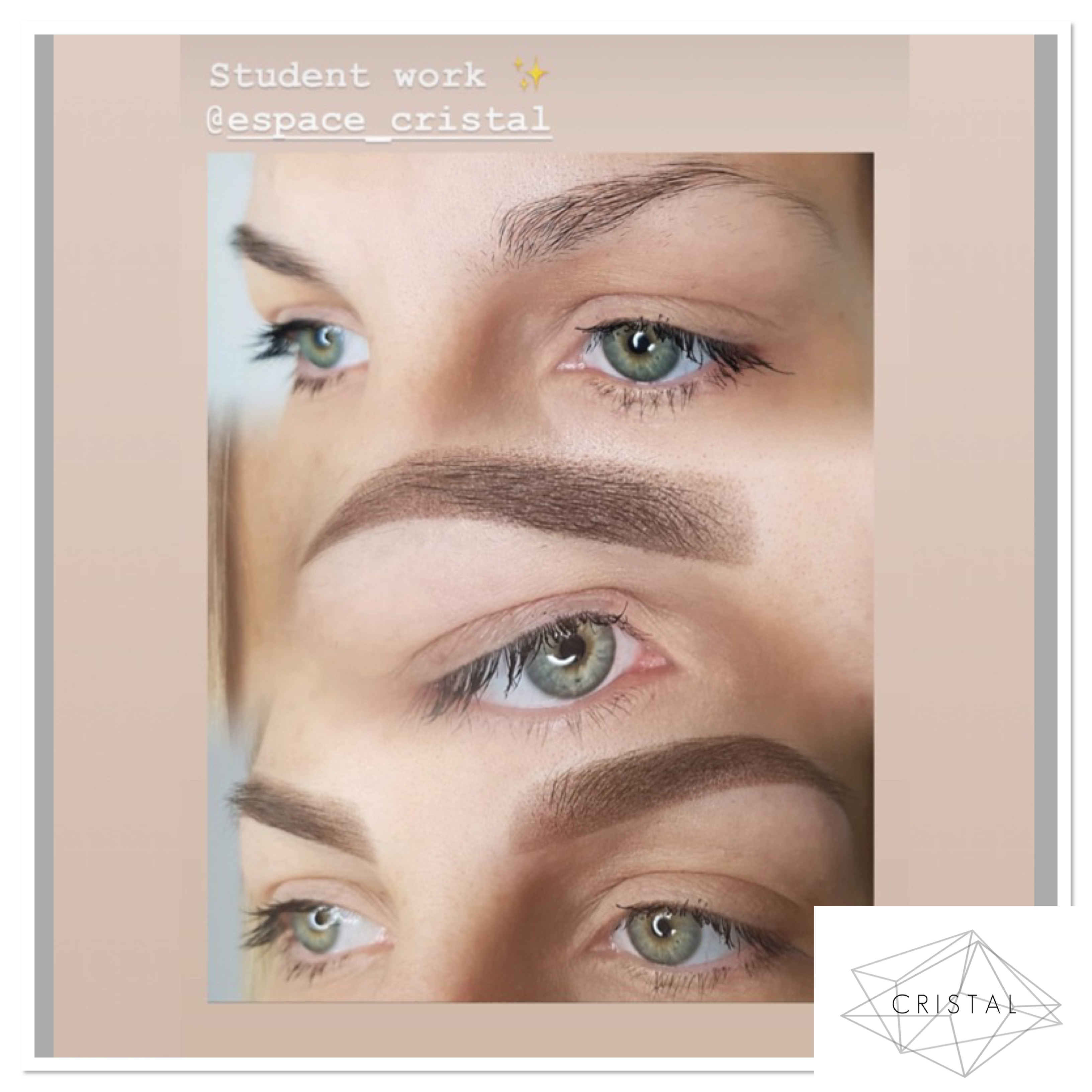 maquillage permanent sourcils effet poudré pixel powder shading